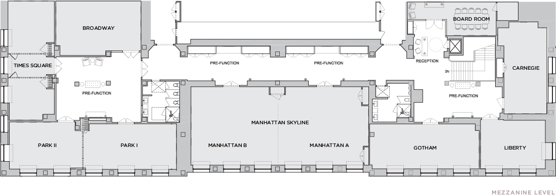 Park central hotel meeting space in new york city for Mezzanine floor plan