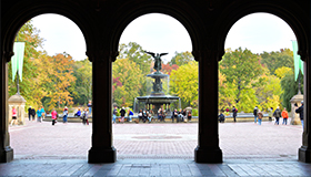 Architectural photo of Bethesda fountain and terrace
