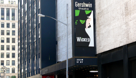 Street view of Gershwin Theatre featuring Wicked