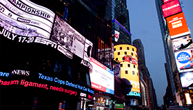 ABC's Times Square Studio and billboards